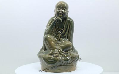 寺庙定制的秘色陶瓷十八罗汉!