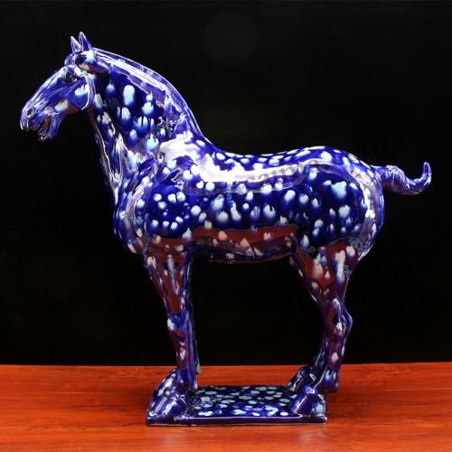 星空蓝三彩马