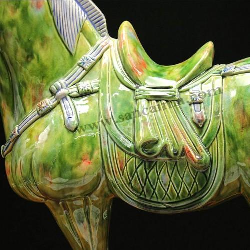 翡翠绿中国马