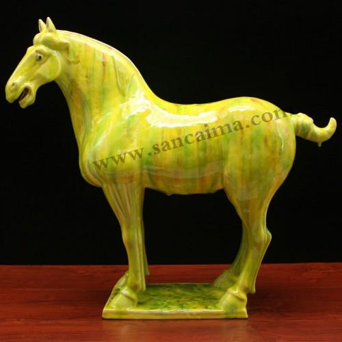 翠绿黄三彩马