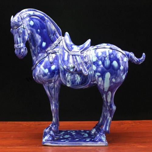豹虎兰中国三彩马