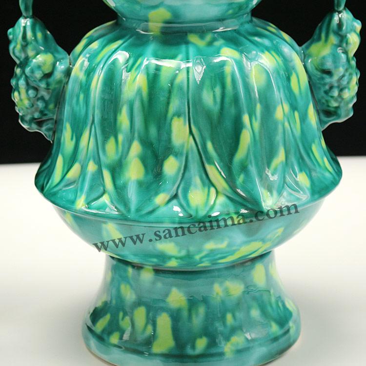 北京客户定做的陶瓷瓶-青色